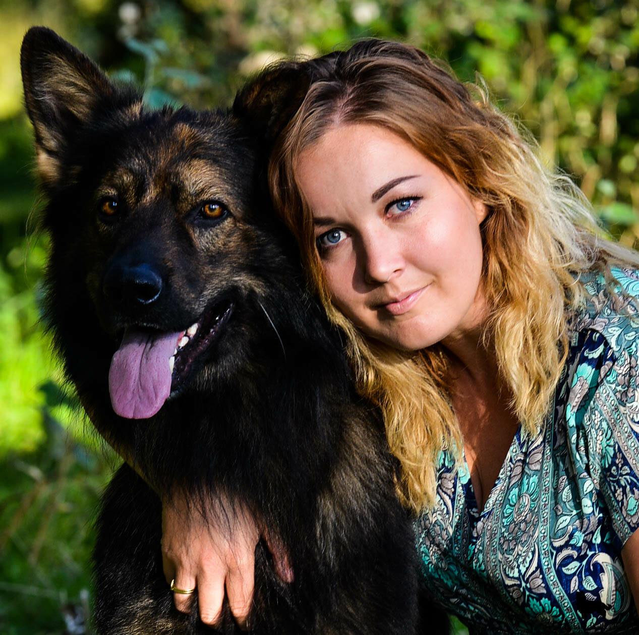Odin en Lucie hond en baasje fotografie