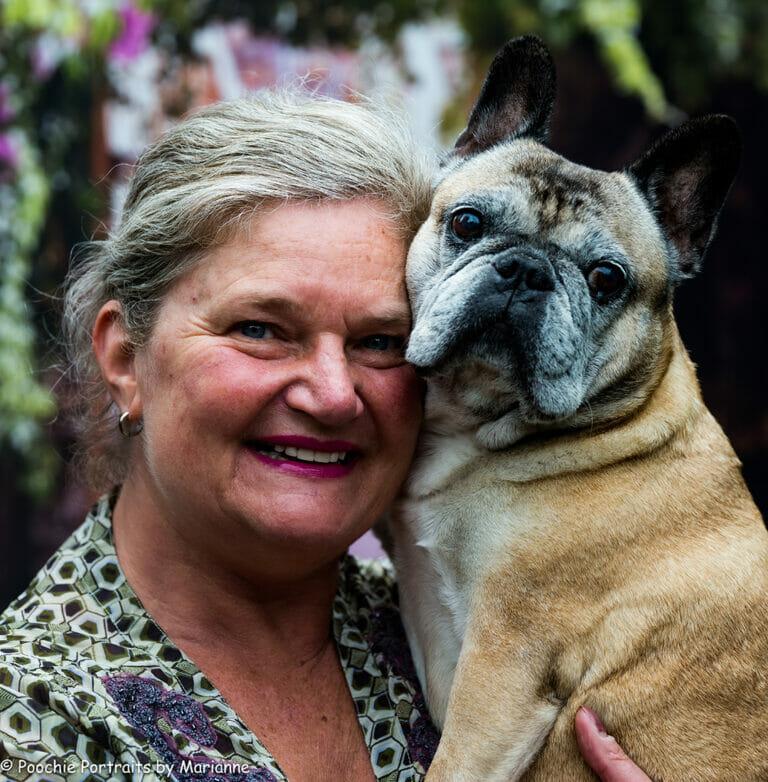 Sandra en Chanel baasje en hond fotografie